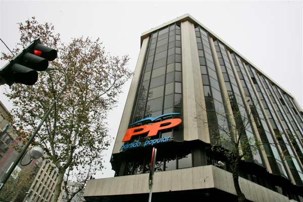 Sede nacional del PP, en la madrileña calle Génova.