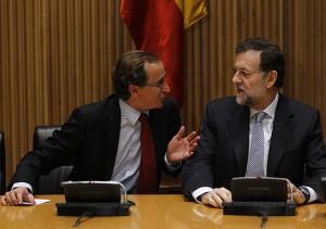 Alfonso Alonso y Mariano Rajoy.