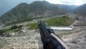 Vista del campo de batalla, grabada por un soldado de EE UU.