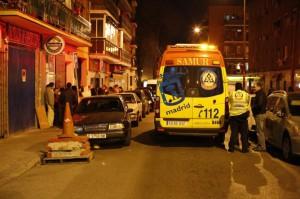 Los hechos ocurrieron en el número 1 de la calle Imagen, aunque la víctima se desplomó a la altura del 26, donde le atendió el Samur