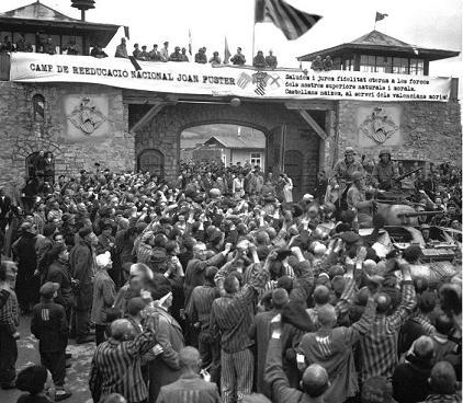 Recreación fotográfica de un campo de reeducación donde los autores del blog pretenden recluir a los castellanos.