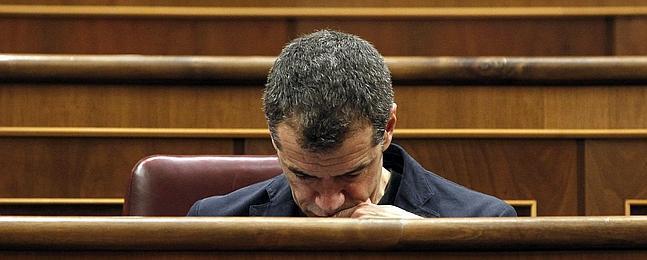 Toni Cantó, ayer en el Congreso de los Diputados. /