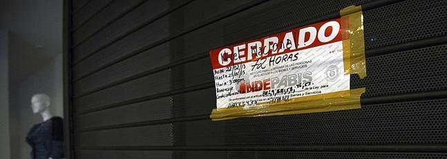Establecimiento franquiciado de Zara cerrado en Caracas.