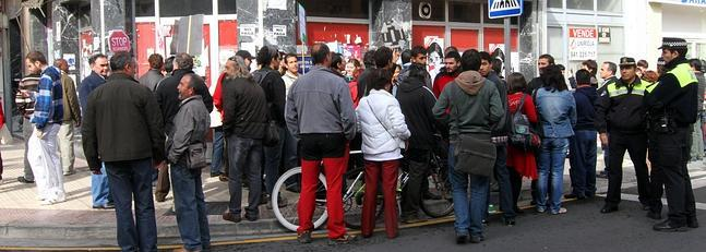 Protesta de afectados por la hipoteca en Logroño.