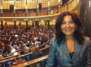 En la imagen, Carmen Maniega