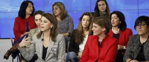 La secretaria general del PP, María Dolores Cospedal, en el acto celebrado en Madrid.