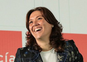 La alcaldesa de La Línea.