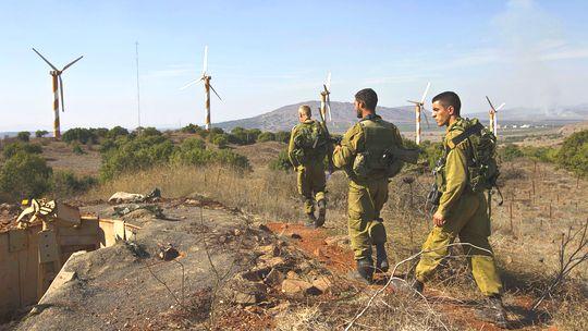 Soldados israelíes en los Altos del Golán.
