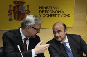 Luis de Guindos y Olli Rehn.