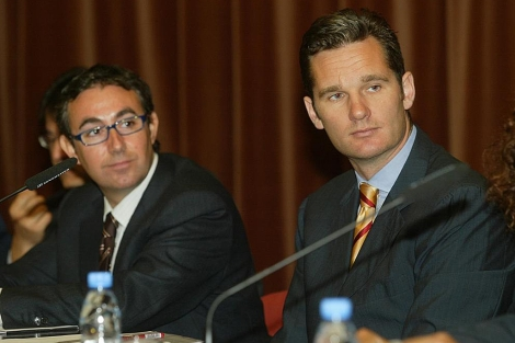 Iñaki Urdangarin y Diego Torres, en una imagen de archivo.