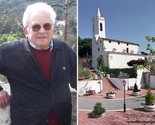 Torrus, a la izquierda, y una imagen de la parroquia de San Cipriano de Vallalta, a la derecha.