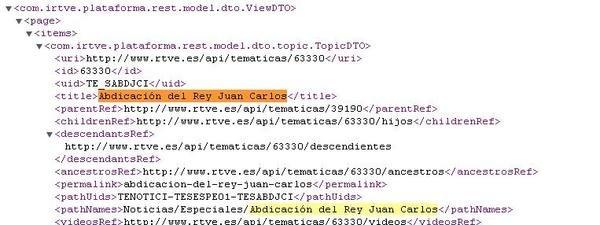 Los contenidos previstos en la web de RTVE