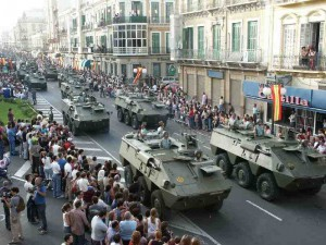 Desfile militar en Melilla