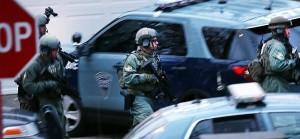 Despliegue policial en el área de Watertown.