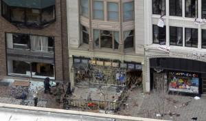 Vista del lugar de las explosiones.