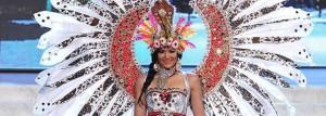 Miss Indonesia, el año pasado en el certamen de Miss Universo.