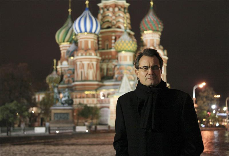 Artur Mas durante su visita a Moscú