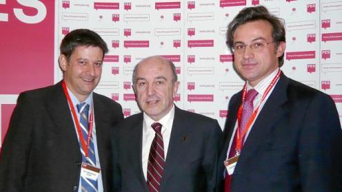 Antonio Quero, a la derecha, con Joaquín Almunia