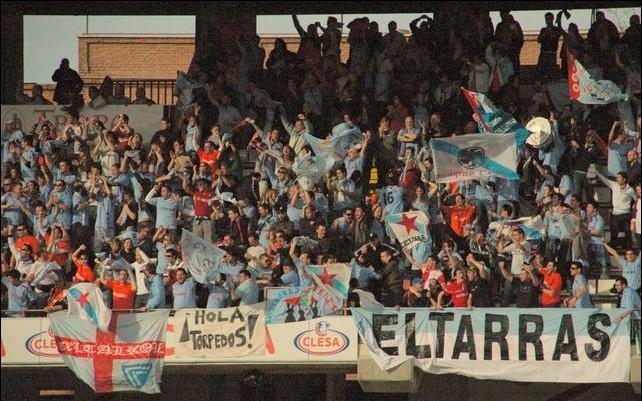 Aficionados radicales del Celta de Vigo.