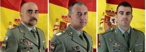 Fotos facilitadas por Defensa de los brigadas Antonio Navarro, Manuel Velasco y el sargento José Francisco Prieto, de izda a dcha.