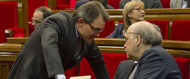 El presidente catalán, Artur Mas, en el Parlament.