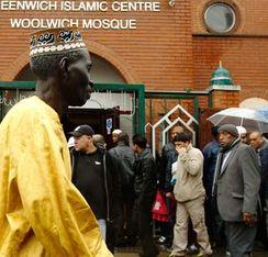 Imagen de una mezquita en Inglaterra.