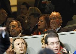 El rey Juan Carlos, en el Bernabéu el pasado martes.