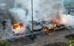 Imagen de disturbios en Estocolmo.