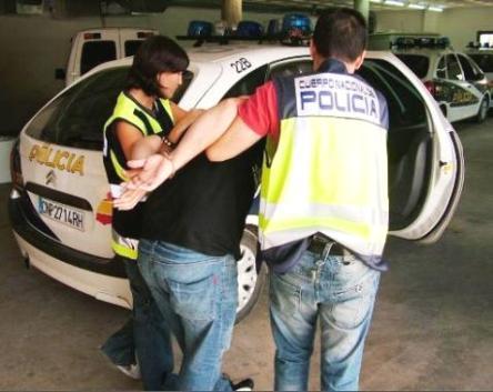 El funcionario, en el momento de su detención