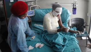 Mabel Mark, en su habitación del Hospital Insular.