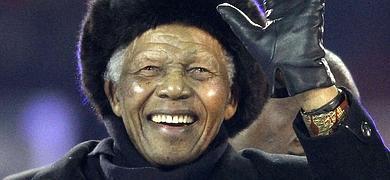 Mandela, en una imagen del Mundial de 2010.