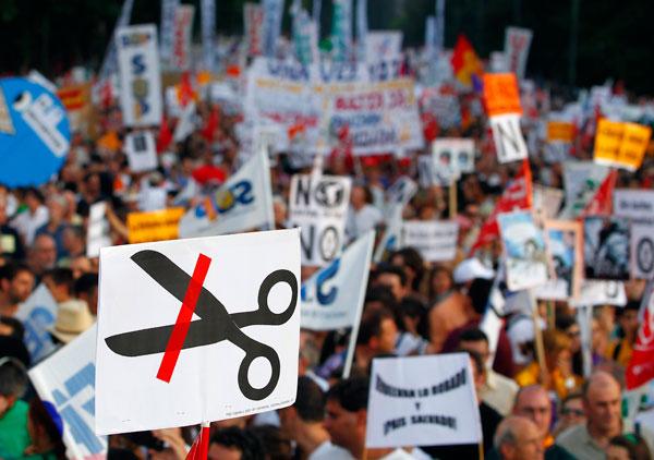 Protestas por los recortes en España