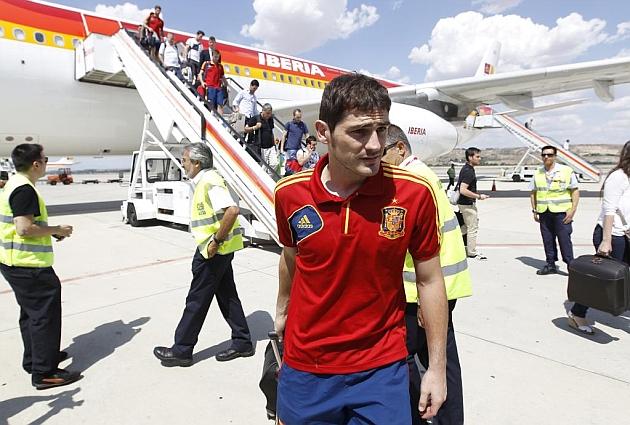 La selección española, de vuelta a España