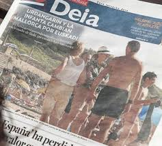 Portada del diario 'Deia'
