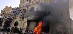 La sede de los Hermanos Musulmanes en Al-Moqattam, en el Cairo.