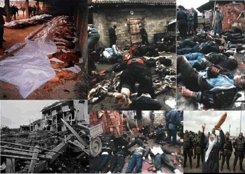 Imágenes de la guerra en Yugoslavia