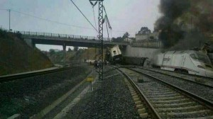 Un humo demasiado denso y negro para tratarse de un tren eléctrico