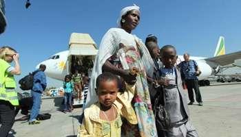 Judíos etíopes llegando a Israel