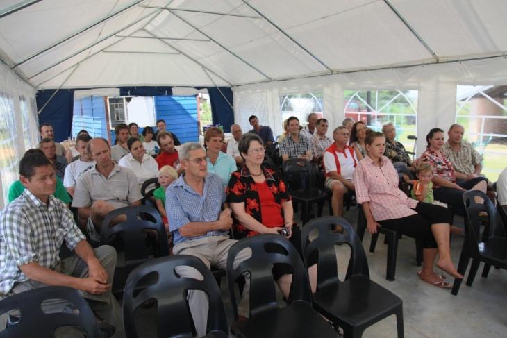Miembros de la comunidad Kleinfontein.