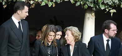 Los príncipes de Asturias, junto a la abuela y el padre de Letizia.