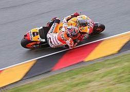 Márquez rueda en Sachsenring.