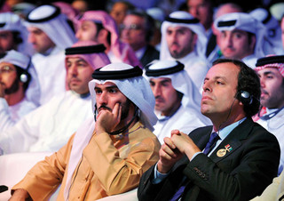 Sandro Rosell, presidente del Barça, en una de sus visitas a Qatar.