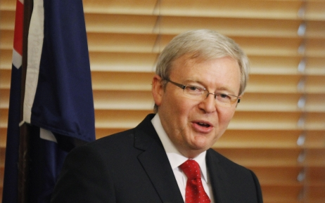 El primer ministro australiano, Kevin Rudd.