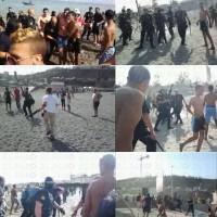 Varias imágenes de los incidentes/El Faro