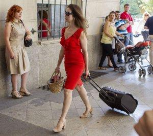 La magistrada Mercedes Alaya entra los juzgados de Sevilla el pasado mes de julio.