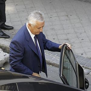 El ex secretario general del PP Javier Arenas, a su llegada a la Audiencia Nacional.