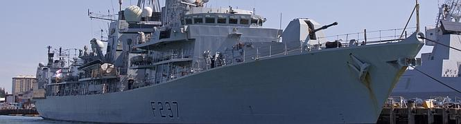 Imagen del HMS Westminster.