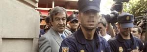 El ex secretario general del PP Francisco Álvarez-Cascos, a su salida de la Audiencia.