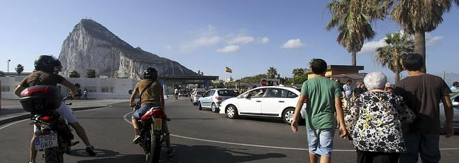 Frontera con Gibraltar.
