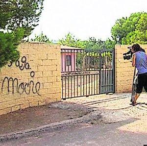 La pintada que presuntamente realizó el homicida.